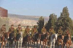 Aboriginal riders at Tzemach ceremony