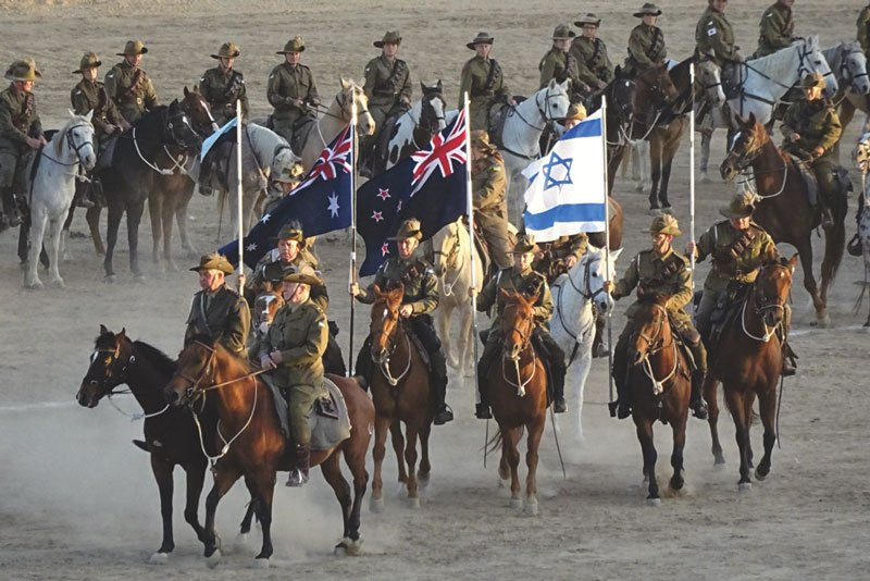 Beersheba Australian Light Horse Charge reenactment during the 2017 Centenary Celebrations in Israel.