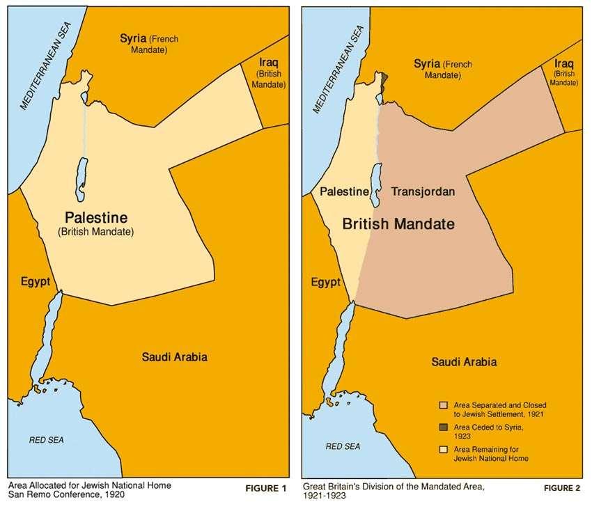 British Mandate map Illustrations