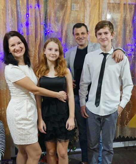 Kristina and Alexander Gegenava with son and daughter